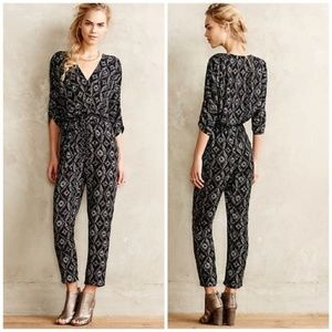 Anthropologie Elevenses Dacey Ikat Jumpsuit